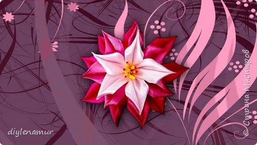 Украшаем заколку ярким цветком из атласа. Видео мастер-класс