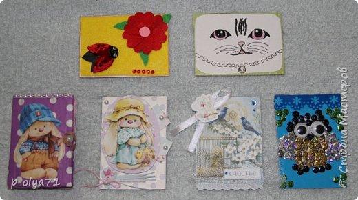Здравствуйте,мои дорогие!!!! В пятницу я получила карточки от Иры, Светика и Ани,а сегодня забрала с почты ещё и карточку Полины и Ани)) !!!! ОЧЕНЬ рада!!! Девочки,ВСЕ карточки ЧУДЕСНЫЕ и ЗАМЕЧАТЕЛЬНЫЕ!!!! фото 1