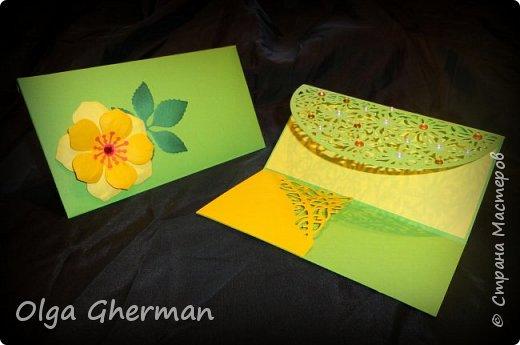 Создала новую серию резных открыток... К каждой открытке прилагается конверт в комплекте... Вот , что у меня получилось : фото 9