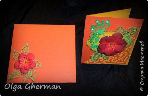 Создала новую серию резных открыток... К каждой открытке прилагается конверт в комплекте... Вот , что у меня получилось : фото 14