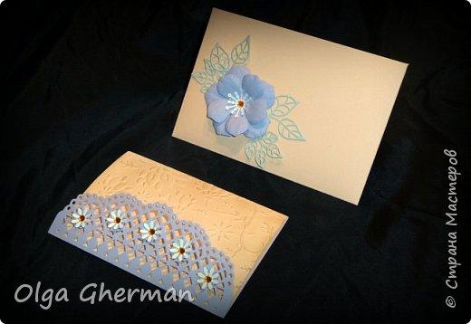 Создала новую серию резных открыток... К каждой открытке прилагается конверт в комплекте... Вот , что у меня получилось : фото 19