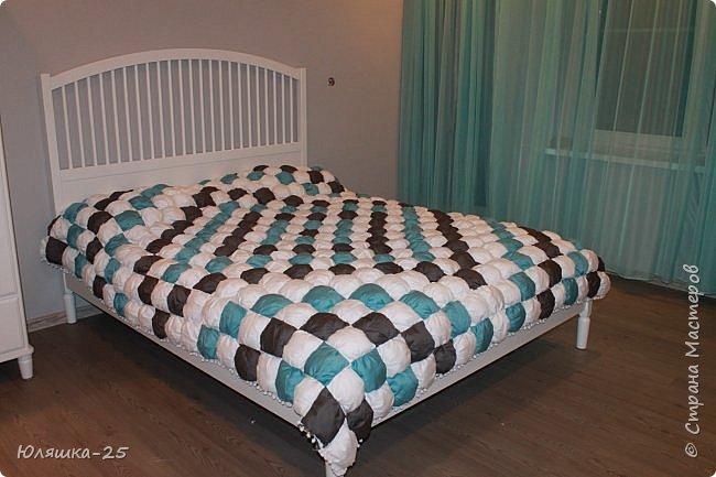 Вот наконец то я завершила свой масштабный проект. огромное вафельное одеяло, и по другому, одеяло бон-бон. фото 2