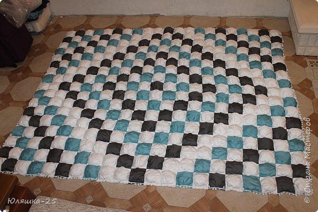 Вот наконец то я завершила свой масштабный проект. огромное вафельное одеяло, и по другому, одеяло бон-бон. фото 3