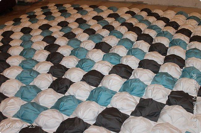 Вот наконец то я завершила свой масштабный проект. огромное вафельное одеяло, и по другому, одеяло бон-бон. фото 1