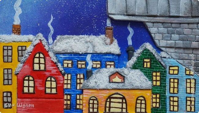 Всем привет)))) Казалось бы за окном летняя жара, а ангел получился зимний.  Размер картины 25х41 см  фото 5