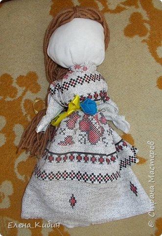 Здравствуйте. Была на мастер-классе по куклам-мотанкам. Получилась такая вот кукла.
