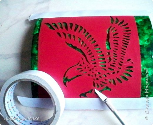 Вот и готов мой подарок племяннику,  любителю зелёного цвета. Как и из чего я её  делала,   делюсь с вами. фото 64