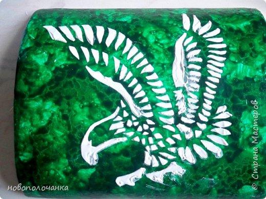 Вот и готов мой подарок племяннику,  любителю зелёного цвета. Как и из чего я её  делала,   делюсь с вами. фото 69