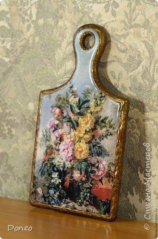 Декоративная дощечка «Цветочный натюрморт»  фото 1