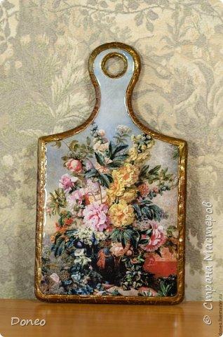 Декоративная дощечка «Цветочный натюрморт»  фото 2