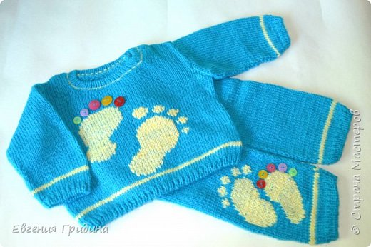 Детский бактус, нежно-голубой, супер мягкий и теплый, с рюшами и завязочками фото 10