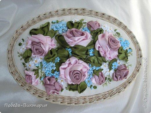 Всем работающим и отдыхающим большой привет!  Сегодня в моем посте две шкатулки - круглой и овальной формы. И розы, много роз, выполнены ленточками!  фото 5