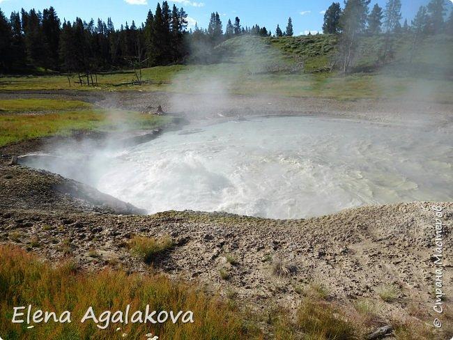 Продолжаю делится впечатлениями от поездки в Йе́ллоустон (Yellowstone National Park)— международный биосферный заповедник, объект Всемирного Наследия ЮНЕСКО, первый в мире национальный парк (основан 1 марта 1872 года). Находится в США, на территории штатов Вайоминг, Монтана и Айдахо. Парк знаменит многочисленными гейзерами и другими геотермическими объектами, богатой живой природой, живописными ландшафтами. ( взято из Википедии ) Мы останавливались в кемпингах в палатках. Парк произвел на нас огромное впечатление. Очень хочется поделится с вами красотой которую я увидела. В один фоторепортаж трудно вместить все увиденное поэтому это уже шестой и будут еще...  Жалко что при загрузке фото уменьшаются и теряется качество поэтому смотрятся картинки плоско... но с этим я ничего поделать не могу. фото 24