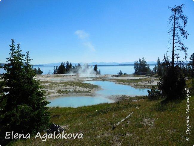 Продолжаю делится впечатлениями от поездки в Йе́ллоустон (Yellowstone National Park)— международный биосферный заповедник, объект Всемирного Наследия ЮНЕСКО, первый в мире национальный парк (основан 1 марта 1872 года). Находится в США, на территории штатов Вайоминг, Монтана и Айдахо. Парк знаменит многочисленными гейзерами и другими геотермическими объектами, богатой живой природой, живописными ландшафтами. ( взято из Википедии ) Мы останавливались в кемпингах в палатках. Парк произвел на нас огромное впечатление. Очень хочется поделится с вами красотой которую я увидела. В один фоторепортаж трудно вместить все увиденное поэтому это уже шестой и будут еще...  Жалко что при загрузке фото уменьшаются и теряется качество поэтому смотрятся картинки плоско... но с этим я ничего поделать не могу. фото 6