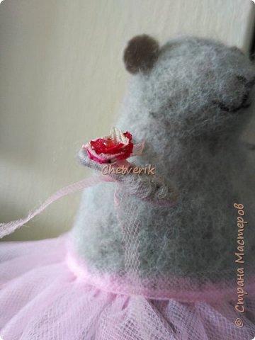 Мышь из шерсти фото 5