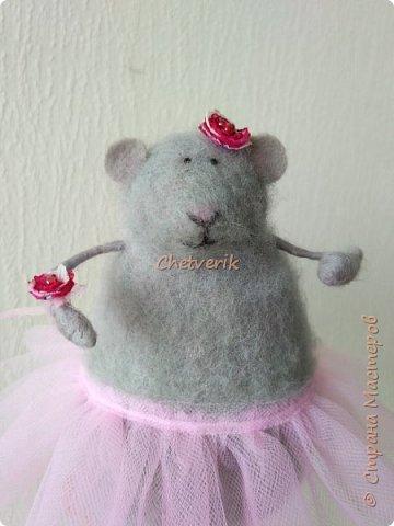Мышь из шерсти фото 4