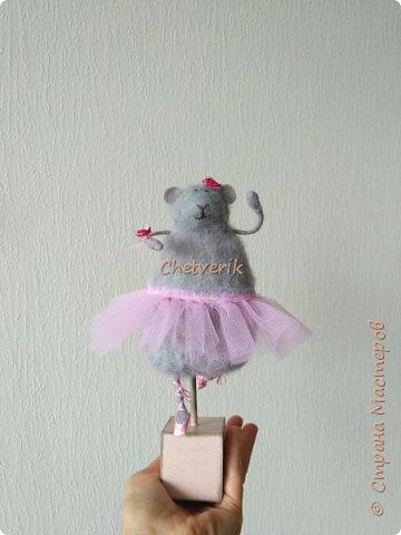 Мышь из шерсти фото 1