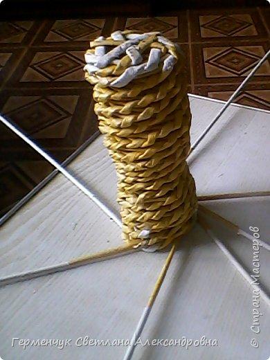 Представляю  Вам  плетеную из бумажных  трубочек кошку  с сюрпризом.  Внутри  у нее пустая  баночка из под кофе .Можно  налить воду внутрь и использовать  ее как вазу  для    цветов  ,  а если положить   конфеты  -будет оригинальная упаковка сладостей ,можно и другие сувениры спрятать.Высота кошки 34 см фото 11