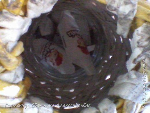 Представляю  Вам  плетеную из бумажных  трубочек кошку  с сюрпризом.  Внутри  у нее пустая  баночка из под кофе .Можно  налить воду внутрь и использовать  ее как вазу  для    цветов  ,  а если положить   конфеты  -будет оригинальная упаковка сладостей ,можно и другие сувениры спрятать.Высота кошки 34 см фото 23