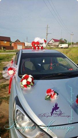 """Украшение для свадебной машины """"Два сердца"""" фото 2"""