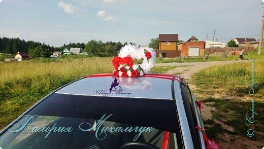 """Украшение для свадебной машины """"Два сердца"""" фото 3"""