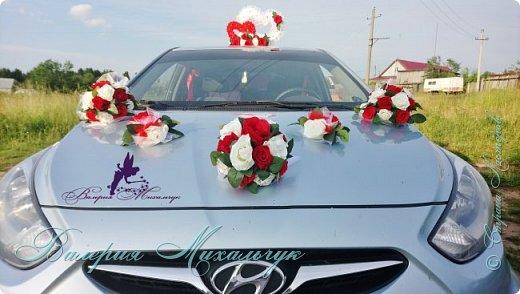 """Украшение для свадебной машины """"Два сердца"""" фото 6"""