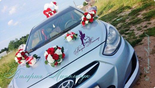 """Украшение для свадебной машины """"Два сердца"""" фото 7"""
