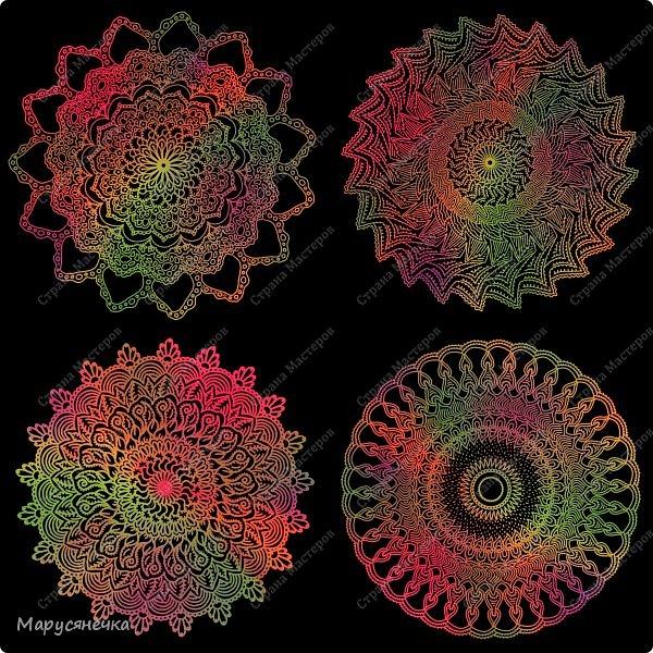 Очень люблю рисовать мандалы, такие они всегда получаются гармоничные... каждая из них особенна)) А вам нравятся такие яркие творения? фото 6
