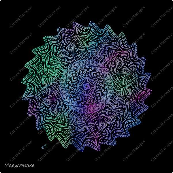 Очень люблю рисовать мандалы, такие они всегда получаются гармоничные... каждая из них особенна)) А вам нравятся такие яркие творения? фото 2