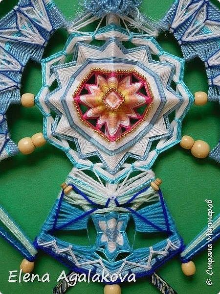 Моя новая Птица Мандала - Талисман Любви и Счастья.(40 на 50 см) И как все мои мандалы она рождалась в процессе плетения.Это импровизация как и большинство моих мандал. Плела я ее долго, летом дома не сидится. Наконец закончила. Вообще Мандалы - это живые энергии, запечатленные в причудливых узорах! И каждая уникальна! фото 2
