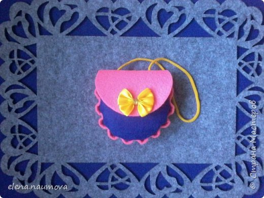 Как сделать кошелёчек-сумочку для девочки фото 1