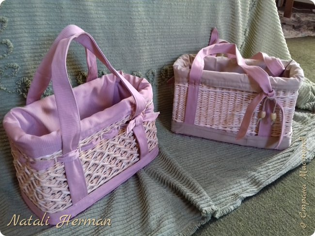 Вот такие сумочки -корзинки у меня получились!  фото 4