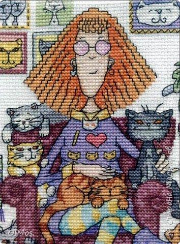 Одна из моих самых любимых работ. Вышивать этих милых котиков одно удовольствие. фото 2