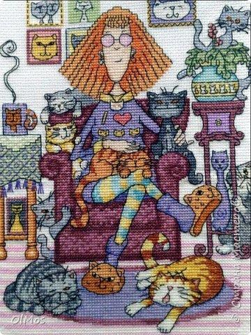 Одна из моих самых любимых работ. Вышивать этих милых котиков одно удовольствие. фото 1
