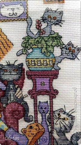Одна из моих самых любимых работ. Вышивать этих милых котиков одно удовольствие. фото 3