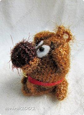 Добрый день! Вязанная сувенирная собачка высотой 7 см. фото 4