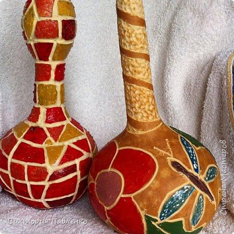 Резьба по высушенным тыквам. фото 1