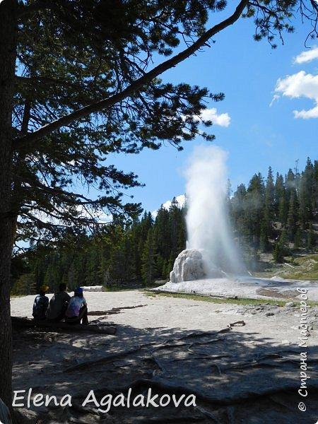 Продолжаю делится впечатлениями от поездки в Йе́ллоустон (Yellowstone National Park)— международный биосферный заповедник, объект Всемирного Наследия ЮНЕСКО, первый в мире национальный парк (основан 1 марта 1872 года). Находится в США, на территории штатов Вайоминг, Монтана и Айдахо. Парк знаменит многочисленными гейзерами и другими геотермическими объектами, богатой живой природой, живописными ландшафтами. ( взято из Википедии ) Мы останавливались в кемпингах в палатках. Парк произвел на нас огромное впечатление. Очень хочется поделится с вами красотой которую я увидела. В один фоторепортаж трудно вместить все увиденное поэтому это уже седьмой, последний.  Сегодня я расскажу про Гейзер Одинокая звезда (Lone Star Geyser )  Жалко что при загрузке фото уменьшаются и теряется качество поэтому смотрятся картинки плоско... но с этим я ничего поделать не могу. фото 16