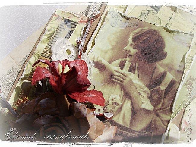 Доброго времени суток всем друзьям и гостям моей странички! У меня сегодня открытка швейная - винтажная! Для моей любимой подруги - швеи и вышивальщицы! Пусть любая работа в ее руках спорится! Пусть времени на любимое дело будет с избытком! фото 4