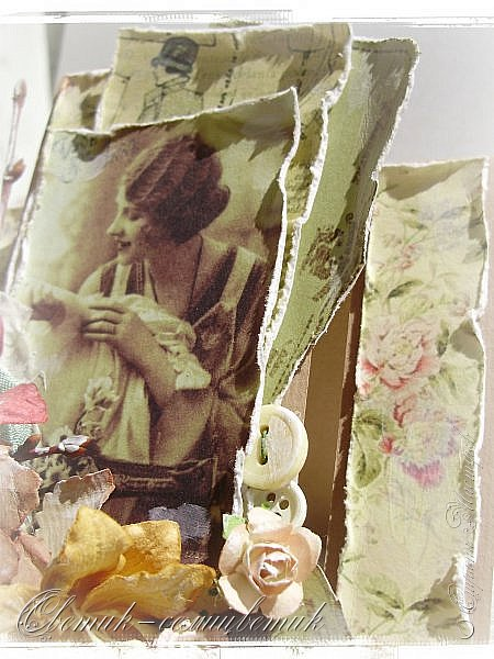 Доброго времени суток всем друзьям и гостям моей странички! У меня сегодня открытка швейная - винтажная! Для моей любимой подруги - швеи и вышивальщицы! Пусть любая работа в ее руках спорится! Пусть времени на любимое дело будет с избытком! фото 5
