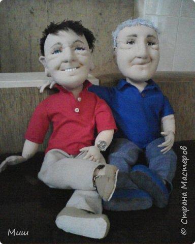 Моя первая проба портретных кукол по фотографиям фото 3
