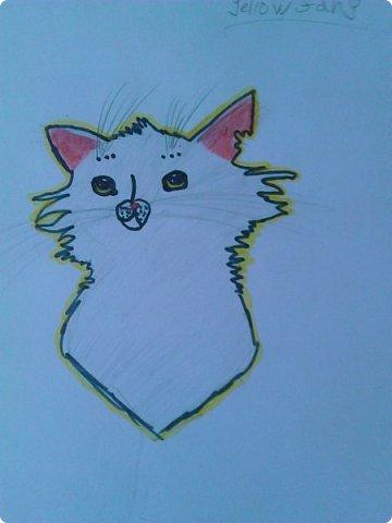 """Доброго времени суток! У меня еще немного рисуночков с:  Это Щербатая, целительница Грозового племени из серии книг """"Коты - воители"""". фото 1"""