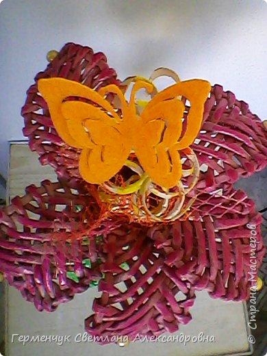 Аленький цветочек увидела на польском сайте.Высота  приблизительно 36 см.Бумага может быть окрашенная  или цветная.Подойдет для оформления подарка . украшение интерьера фото 20
