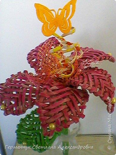 Аленький цветочек увидела на польском сайте.Высота  приблизительно 36 см.Бумага может быть окрашенная  или цветная.Подойдет для оформления подарка . украшение интерьера фото 21