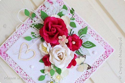 Всем приветы ещё раз за сегодня!! Ещё один конвертик-открытка на свадьбу цвета марсала. И букетик в конце, для вдохновения))) фото 3