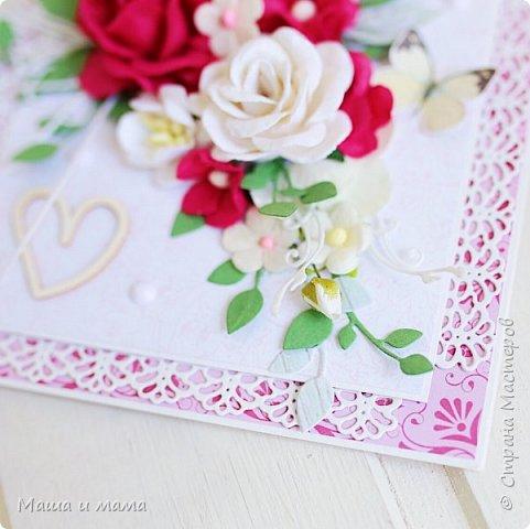 Всем приветы ещё раз за сегодня!! Ещё один конвертик-открытка на свадьбу цвета марсала. И букетик в конце, для вдохновения))) фото 4