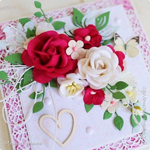 Всем приветы ещё раз за сегодня!! Ещё один конвертик-открытка на свадьбу цвета марсала. И букетик в конце, для вдохновения))) фото 7