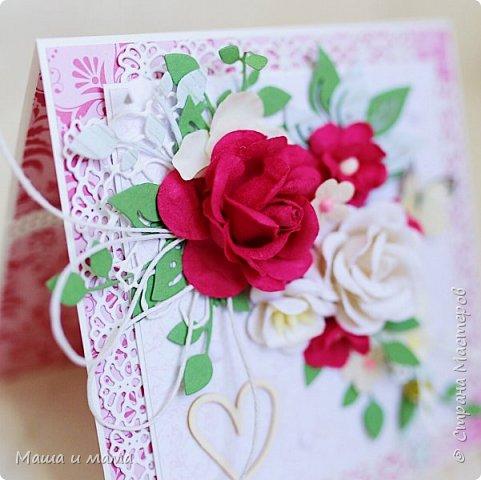 Всем приветы ещё раз за сегодня!! Ещё один конвертик-открытка на свадьбу цвета марсала. И букетик в конце, для вдохновения))) фото 5