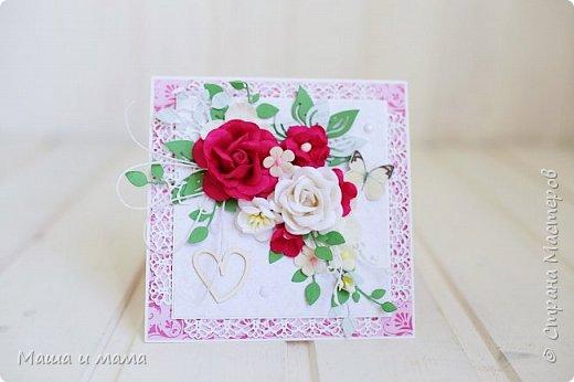 Всем приветы ещё раз за сегодня!! Ещё один конвертик-открытка на свадьбу цвета марсала. И букетик в конце, для вдохновения))) фото 2