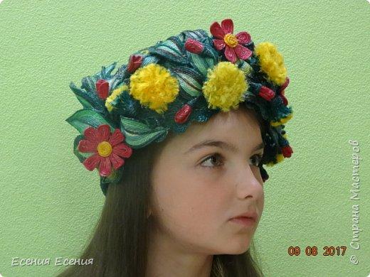 """Здравствуйте, жители Страны Мастеров!!! """"Я так хочу, чтобы лето не кончалось..."""", а август уже вовсю шагает!  Венок- ободок """" Полевые цветы"""". Сделала для участия в выставке. Модель- моя младшая дочечка. Ободок ей , конечно, велик, но задумка , я думаю, понятна. фото 1"""